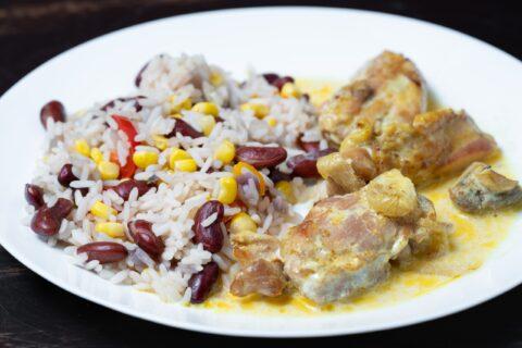 Рис з квасолею та овочами